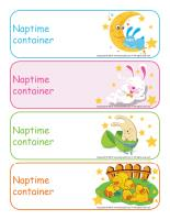 Naptime container labels-Easter
