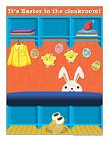 Poster-Easter cloakroom