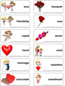 Valentine's day-Word flash game