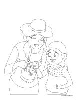 Coloring pages theme-Mother?s Day 2015