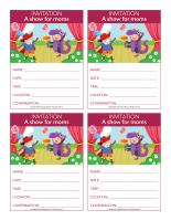 Invitations Special Day-A show for moms