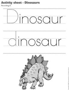 Dinosaur-Activity sheet