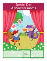 Perpetual calendar Special Day-A show for moms