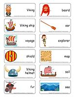 Word flashcards-Vikings