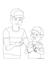 Coloring pages theme-Father's Day 2015
