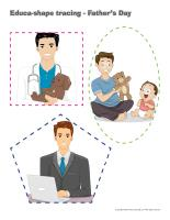 Educa-shape-tracing-Father's Day