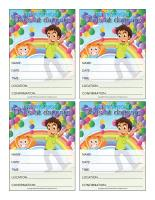 Invitations-Special Day-Dads at daycare