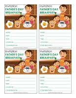 Invitations-Special Day-Father's Day breakfast