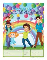 Perpetual calendar-Special Day-Dads at daycare