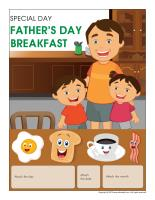 Perpetual calendar-Special Day-Father's Day breakfast