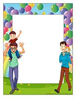 Picture frame-Special Day-Dads at daycare