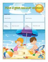 Perpetual calendar-Summer vacation