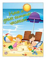 Poster-Have a great-summer vacation