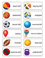 Word flashcards-Balls