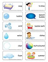 Word flashcards-Bubbles