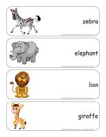 Giant word flashcards-The zoo