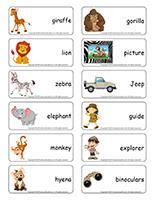 Word flashcards-Safari