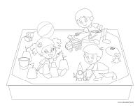 Coloring pages theme-The playground