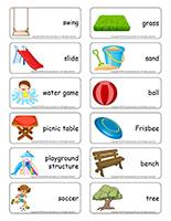 Word flashcards-The playground