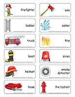 Word flashcards-Firefighters