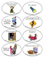 questions about halloween safety when they provide the correct answer have them pick a puzzle piece and place it on the table - Halloween Safety Worksheets