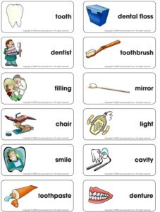 Dental healt-Word flash game