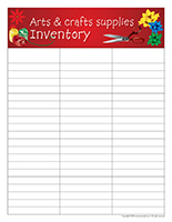 Inventory-Arts & crafts supplies