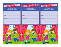 Invitations-Special Day-A show for moms
