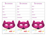 Invitations-mask