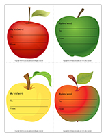 Kind word-Apples-Color
