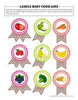 Labels baby food jars
