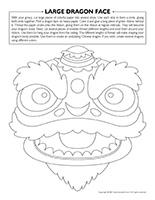 Large dragon face