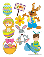 Large stickers-Easter