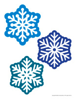 Large stickers-Snowflakes