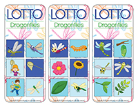 Lotto game-Dragonflies