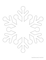 Make your own puppets-Snowflakes