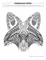 Mandalas-Foxes