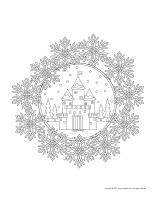 Mandalas-Snow castles