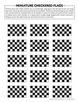 Miniature checkered flags