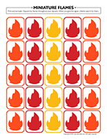 Miniature flames