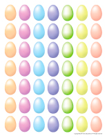 Miniature pastel eggs