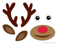 Model gift bag-Reindeer-1