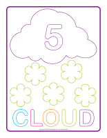 Modeling dough activity placemats-Clouds