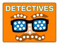 Modeling dough activity placemats-Detectives