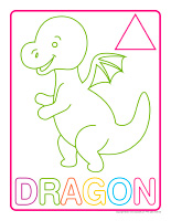Modeling dough activity placemats-Dragons