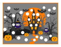 Modeling dough activity placemats-Halloween-1