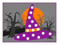Modeling dough activity placemats-Halloween-2