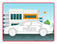 Modeling dough activity placemats-Police
