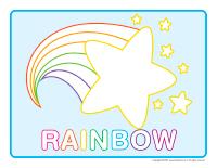 Modeling dough activity placemats-Rainbows