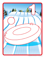 Modeling dough activity placemats-Sledding-1
